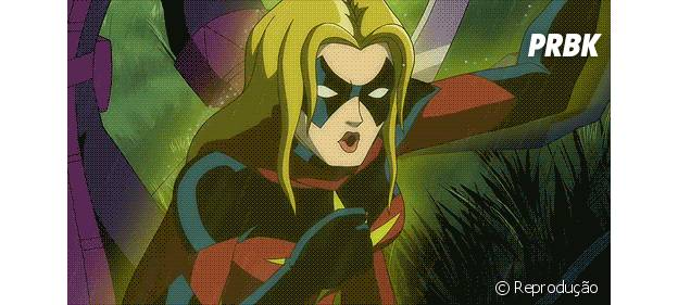 """Capitã Marvel, uma das integrantes de """"The A Force"""""""