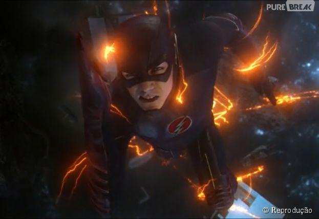 """Em """"The Flash"""", Barry (Grant Gustin) teve que correr para salvar o mundo no fim do episódio"""