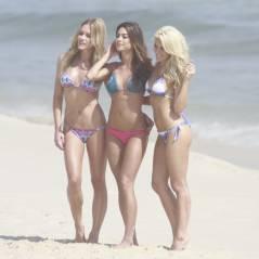 Giovanna Ewbank, Thaila Ayala e Fiorella Mattheis posam de biquíni no Rio
