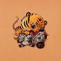 Fofo ou Bizarro? Veja 13 ilustrações de grandes predadores devorando outros animais!
