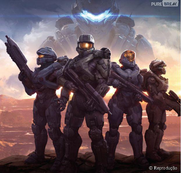"""Capa da revista Game informer com """"Halo 5: Guardians"""""""