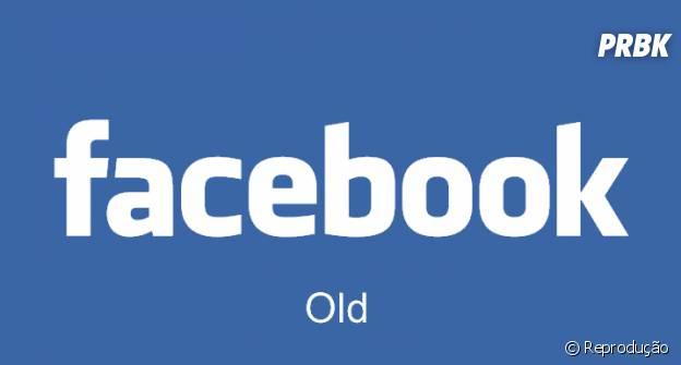 Comparação entre a logomarca antiga e atual do Facebook