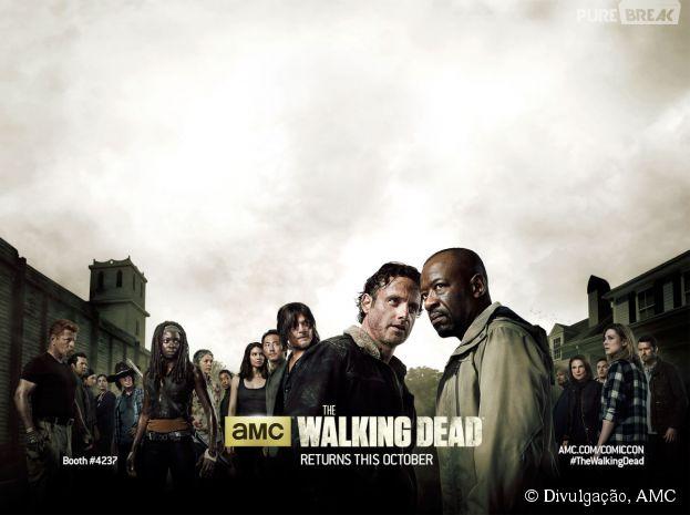 """Em """"The Walking Dead"""", Morgan (Lennie James) e Rick (Andrew Lincoln) vão ter uma conversa super séria"""