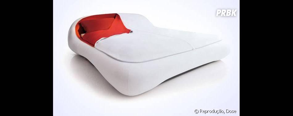 Essa cama com zíper é uma boa pra deixar você bem coberto