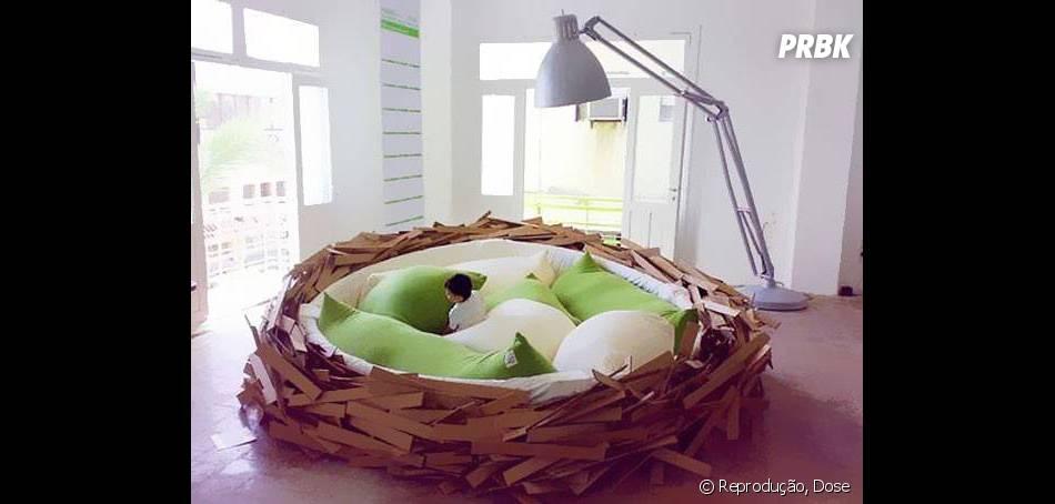 Cama em formato de ninho pra ninguém querer levantar mais!