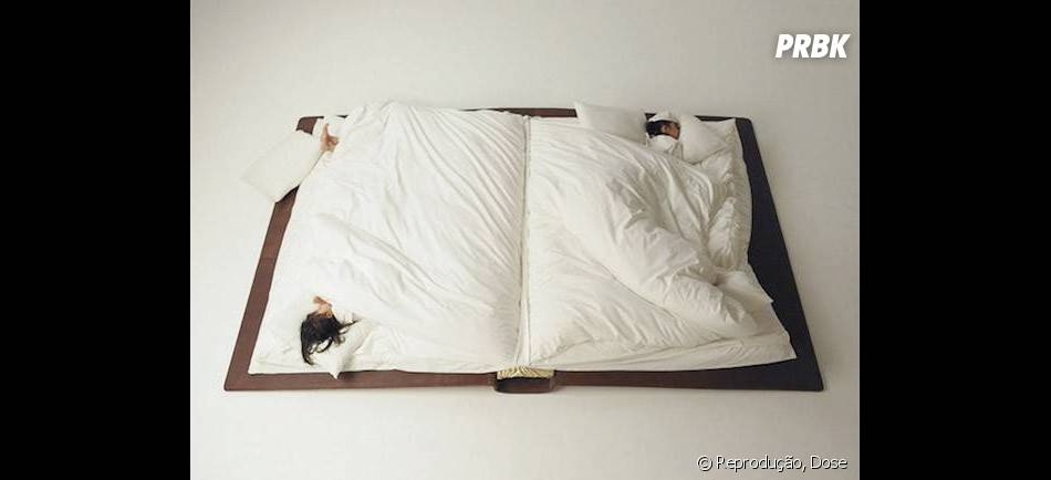 E essa cama em formato de livro? Quero deitar nela agora!