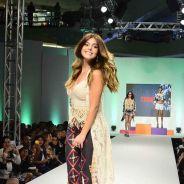 """Giovanna Lancellotti, de """"A Regra do Jogo"""", ataca de modelo em evento de moda em São Paulo"""