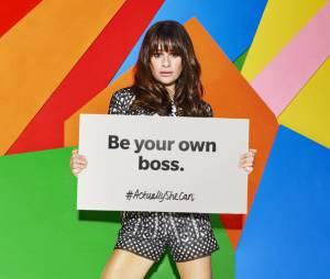 """Estrela de """"Scream Queens"""", Lea Michele quer empoderar jovens mulheres na campanha #ActuallySheCan"""