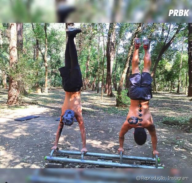MC Gui pratica exercícios regularmente