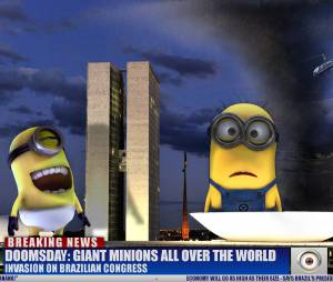 Minions atacando Brasília no Brasil! Imagine a confusão?!