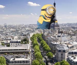Stuart agora abraçando a Torre Eiffel em Paris!