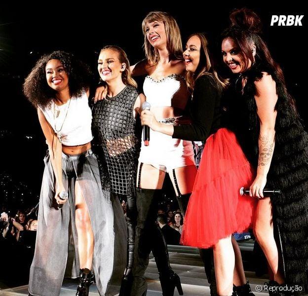 """Taylor Swift convoca meninas do Little Mix para cantar """"Black Magic"""" ao vivo"""
