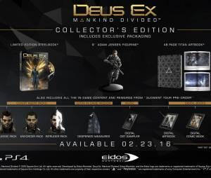 """Edição de Colecionador de """"Deus Ex: Mankind Division"""" incluirá uma estátua do protagonista"""