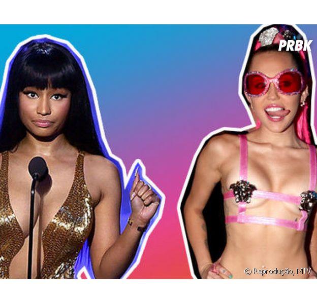 Nicki Minaj xinga Miley Cyrus durante VMA e vídeo do momento é divulgado