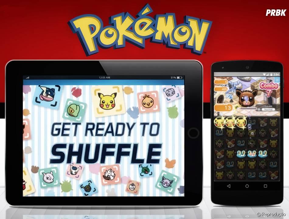 """""""Pokémon Shuffle Mobile""""é um puzzle free-to-play muito divertido e simples de jogar nos tablets e smartphones"""