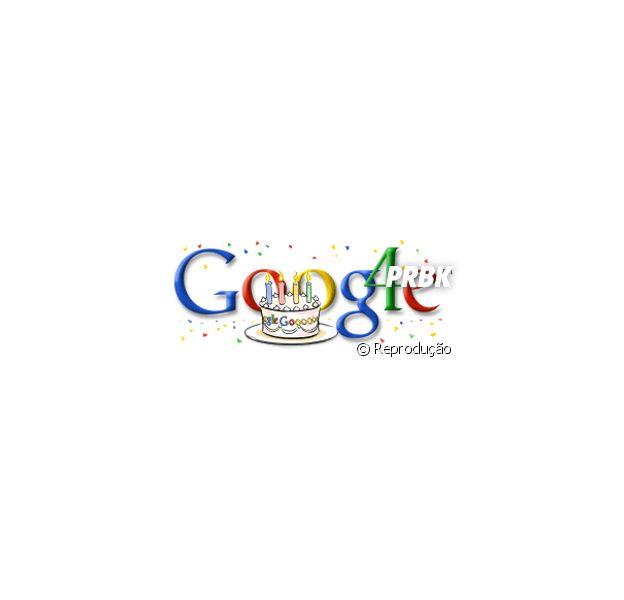 Em 2002, a Google lançou o primeiro doodle comemorativo de aniversário!