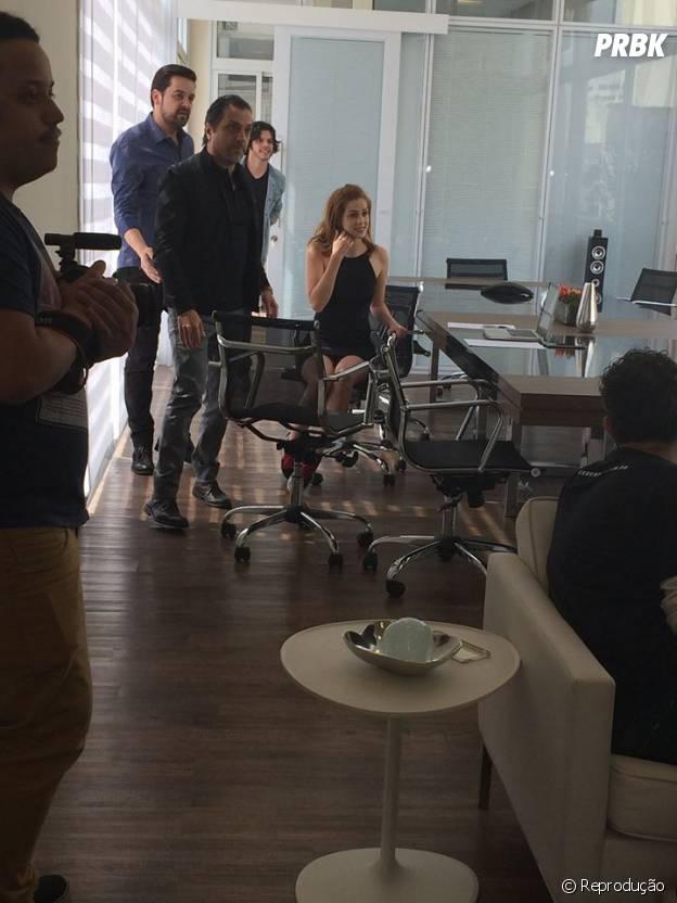Sophia Abrahão está gravando o seu novo clipe