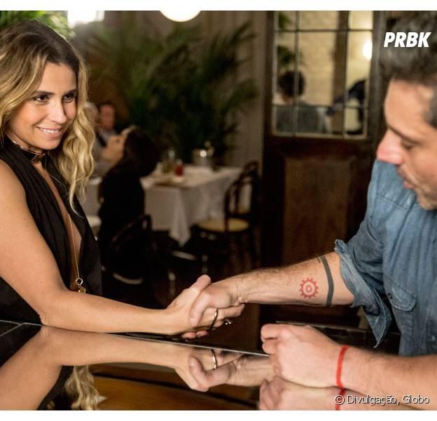 """Em """"A Regra do Jogo"""": Atena (Giovanna Antonelli) e Romero (Alexandre Nero) se conhecem!"""