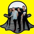 O One Direction agora está no Snapchat, gente!