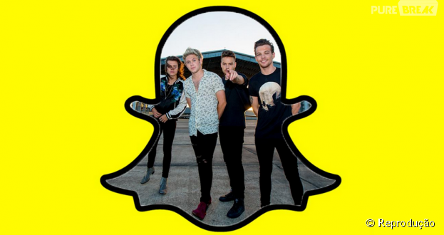 O One Direction agora está no Snapchat, gente!