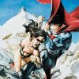 Descontrolado, a Mulher-Maravilha era a única capaz de enfrentar o Superman. Felizmente essa luta acaba bem!