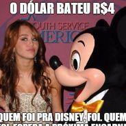 Dólar a R$4: confira os memes zoeira sobre a alta e esqueça férias na Disney!