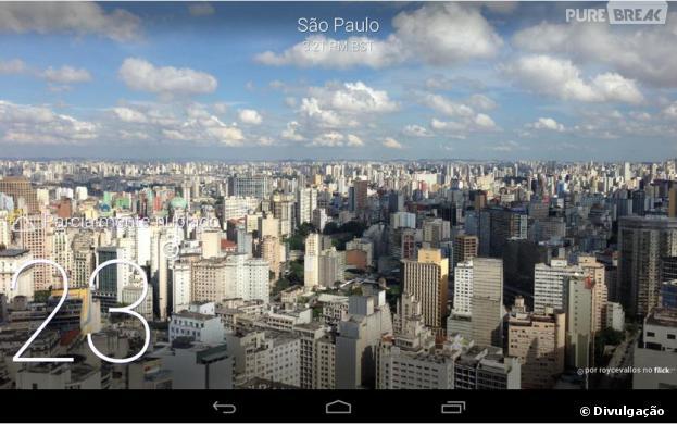 """Com fotos incríveis, o """"Yahoo Tempo"""" entrou na lista dos aplicativos para Android mais bonitos de 2013"""