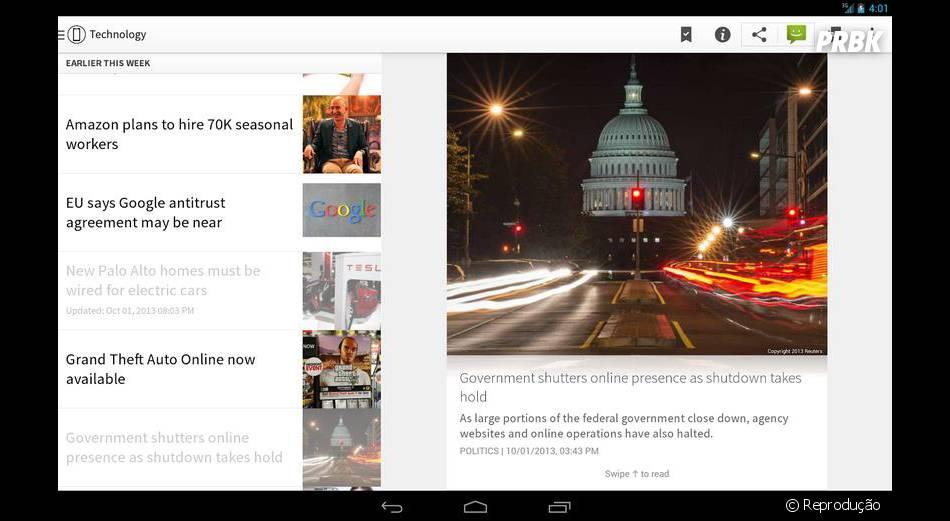 """O app de notícias """"Circa News"""" também ganhou seu lugar entre os aplicativos para Android mais bonitos de 2013"""