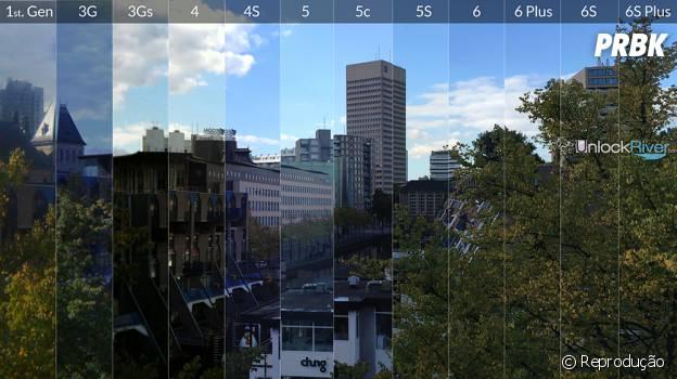 Fotos com todas as câmera das várias gerações de Iphones