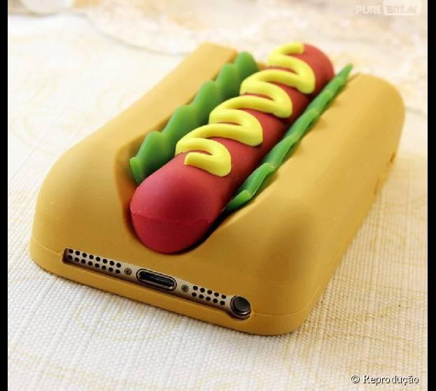 Cuidado pra não deixar ninguém morder seu iPhone, da Apple, pensando que é um cachorro-quente!