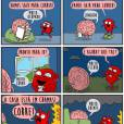 O coração sabe o que é bom, mas às vezes o cérebro não liga