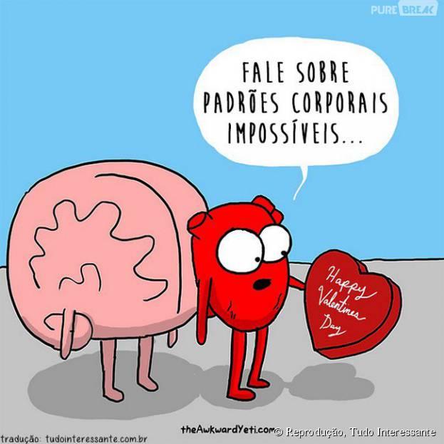 O coração sente, mas o cérebro nunca sabe o que dizer