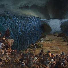 """Novela """"Os Dez Mandamentos"""": a abertura do Mar Vermelho e o destino de Ramsés (Sérgio Marone)!"""
