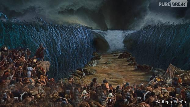 """Em """"Os Dez Mandamentos"""": após as dez pragas, veja como será a cena da abertura do Mar Vermelho!"""