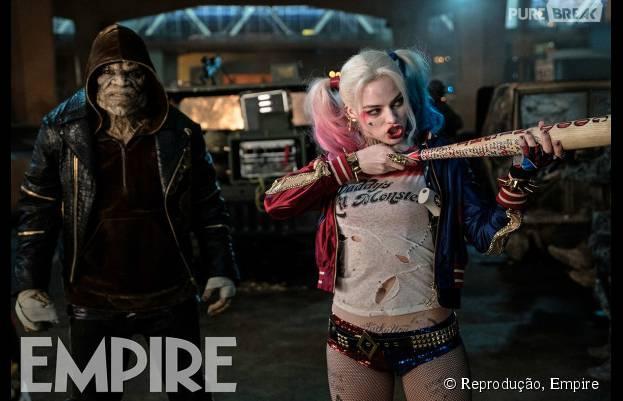 """Arlequina (Margot Robbie) aparece incrível em mais uma foto inédita de """"Esquadrão Suicida"""""""