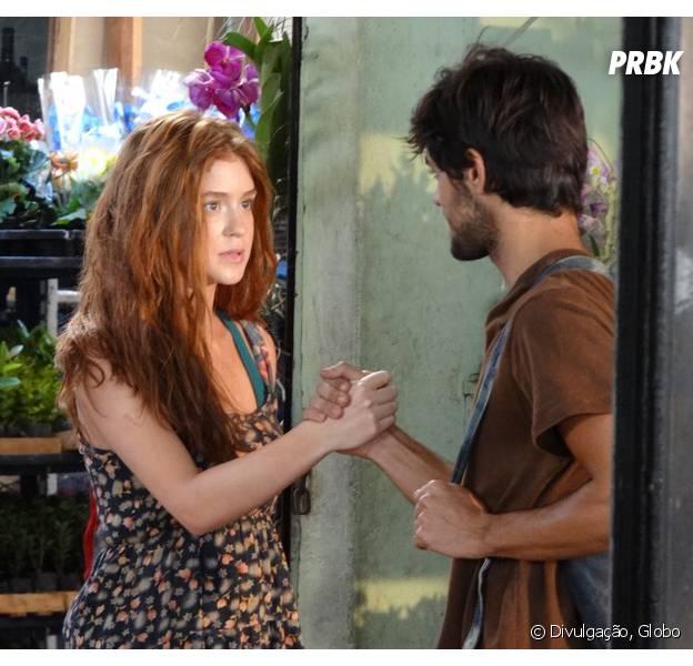"""Em """"Totalmente Demais"""": Eliza (Marina Ruy Barbosa) pede ajuda de Jonatas (Felipe Simas) para virar empresária das ruas!"""