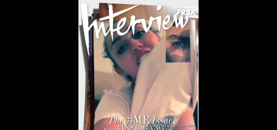 Miley Cyrus sensualizou do jeito que ela gosta na capa da Interview