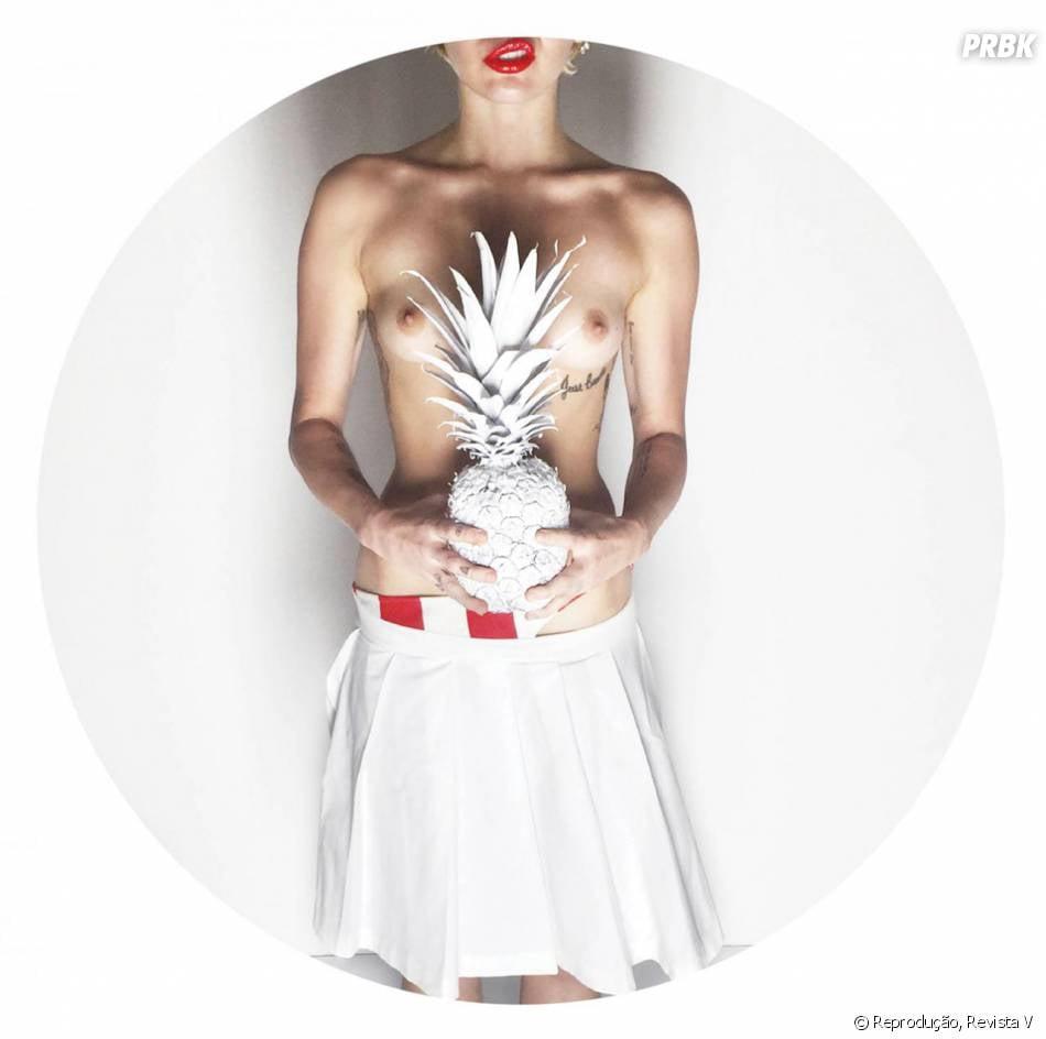 Miley Cyrus sem censuras: cantora mostrou tudo em ensaio fotográfico para a revista V
