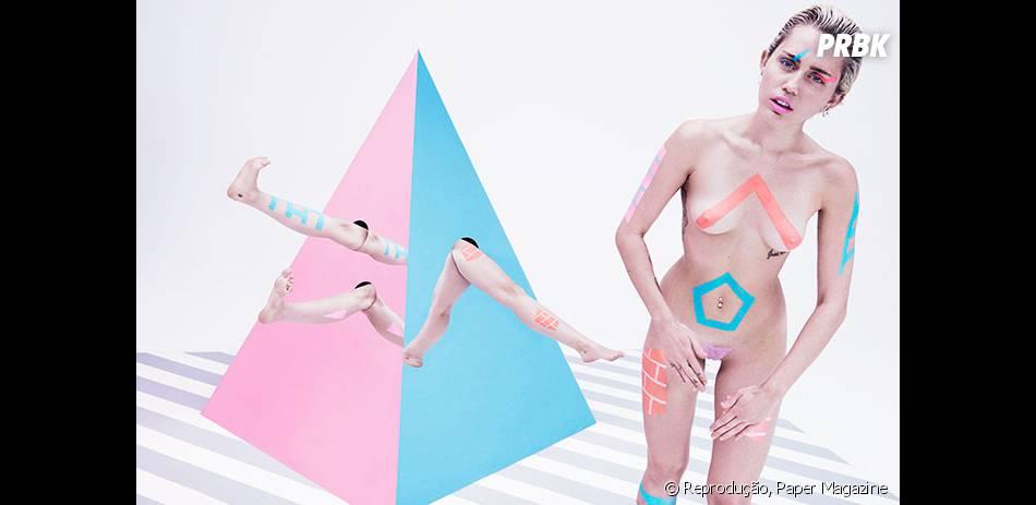 Miley Cyrus exibiu seu corpão em fotos da Paper Magazine