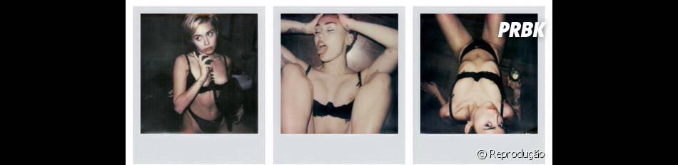 Um pequeno apanhado de fotos da Miley Cyrus de lingerie, só para variar um pouquinho