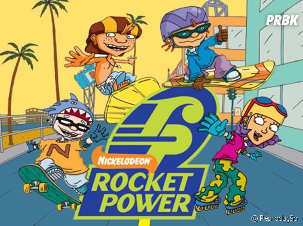 """Os meninos de """"Rocket Power"""" mostravam suas aventuras pelas ruas do Hawaí!"""