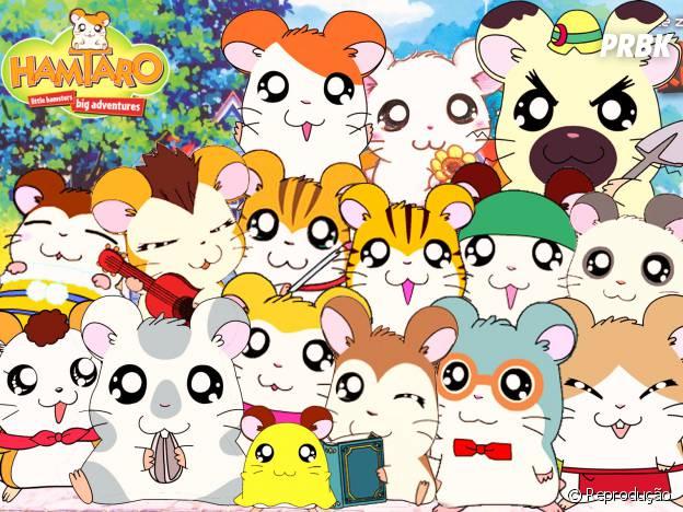 """Os hamsters de """"Hamtaro"""" deixavam todo mundo com um surto de fofura!"""