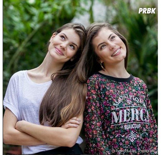 Camila Queiroz e Bruna Hamú compartilharam foto juntas e mostraram que são muito parecidas!