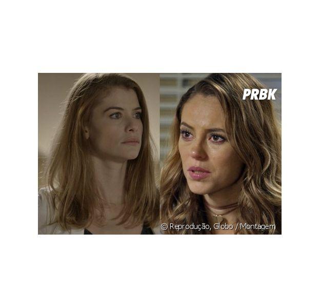"""Novela """"Além do Tempo"""": Melissa (Paolla Oliveira) faz nova ameaça a Lívia (Alinne Moraes): """"vou infernizar a vida de vocês"""""""