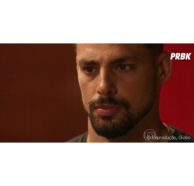 """Novela """"A Regra do Jogo"""": Juliano (Cauã Reymond) invade ceia de Natal e leva fora de Tóia (Vanessa Giácomo)"""