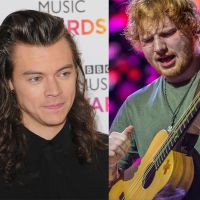 "Harry Styles, do One Direction, deu violão que Ed Sheeran usou para compor ""Thinking Out Loud"". Awn!"