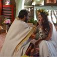 """Novela """"Os Dez Mandamentos"""": Moisés (Guilherme Winter) e Zípora (Giselle Itié) viveram um amor à distância"""