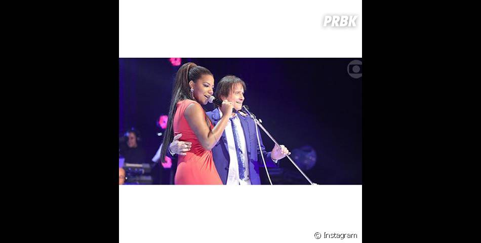 Ludmilla cantou ao lado de Roberto Carlos em 2015