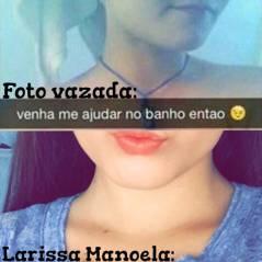 """Larissa Manoela desabafa sobre suposta nude vazada na internet: """"Quem me conhece, sabe quem eu sou!"""""""