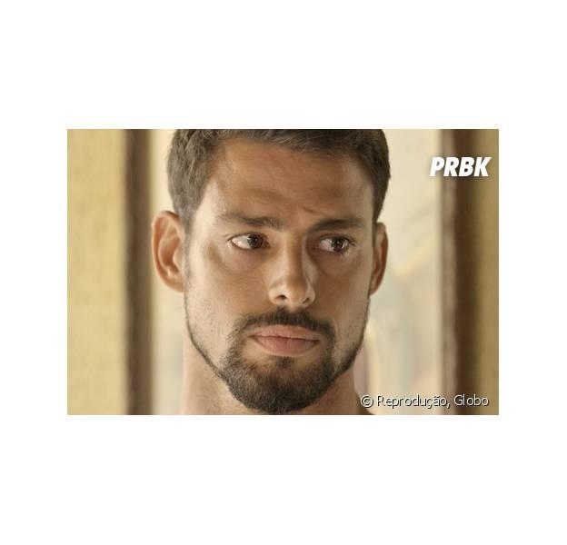 """Em """"A Regra do Jogo"""", Juliano (Cauã Reymond) descobre que Tóia (Vanessa Giácomo) vai ter filho com Romero (Alexandre Nero)"""